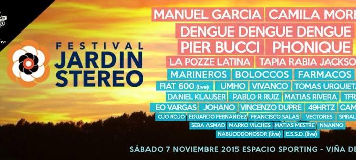 F rmacos y spiral vortex en festival jard n stereo la union for Jardin stereo 2015 line up